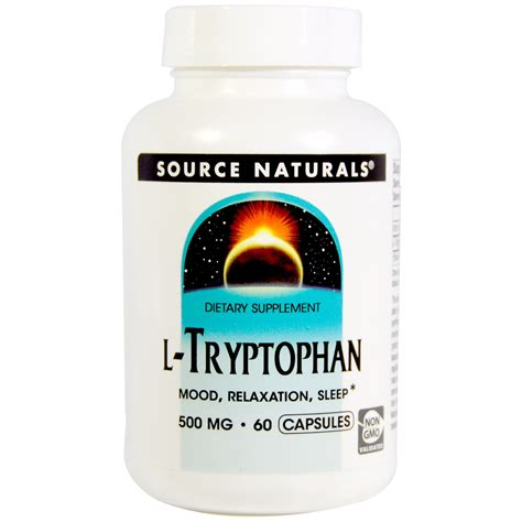 supplement l tryptophan source naturals l tryptophan 500 mg 60 capsules iherb