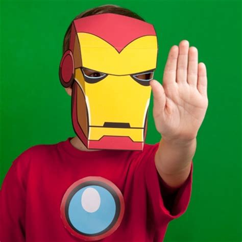 ironman mask template iron inspired mask disney family