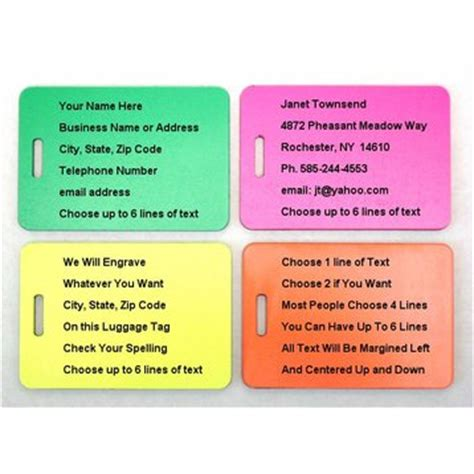 what to put on tag rhino engraved luggage tag pink