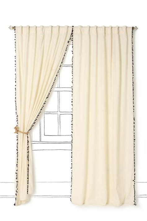 Pom Pom Trim For Curtains Pom Pom Curtains Diy Pinterest