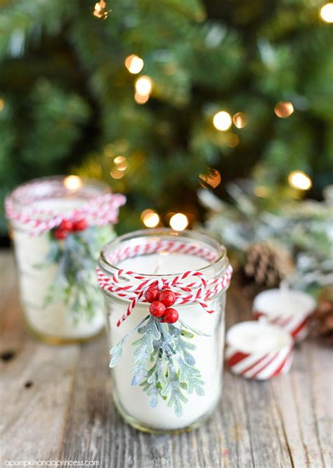 christmas candles diy diy jar candle allfreechristmascrafts