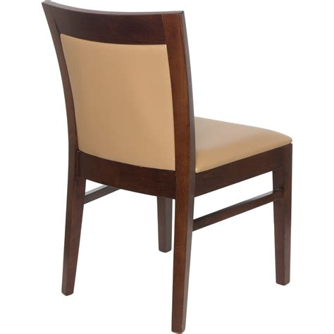 Chairs : Wood Upholstered Square Inset Back Chair