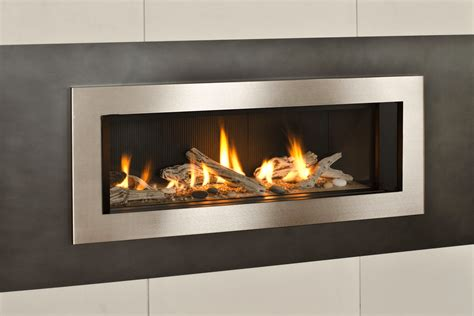 Driftwood Fireplace by Valor L2 Linear Series