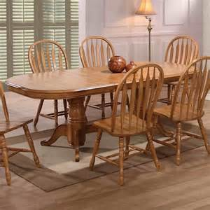 Double Pedestal Dining Room Table by E C I Furniture Dining Solid Oak Double Pedestal Dining