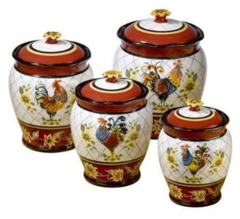 Kitchen Ceramic Canister Sets by Pics Photos Rooster Kitchen Decor Pictures With Model