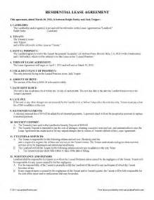 Free Residential Lease Agreement Template Free Lease Amp Rental Agreement Forms Ez Landlord Forms
