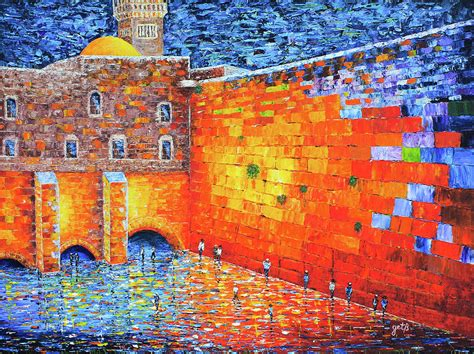 Home Decor Online Sales Wailing Wall Greatness In The Evening Jerusalem Palette