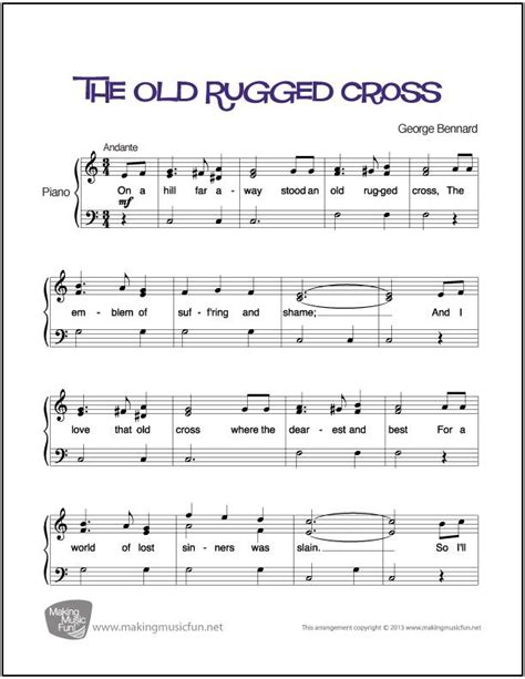 Sheet For Rugged Cross by 952 Best Images About Piano Sheet On