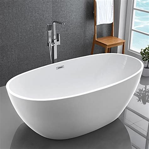 model bathtub kiva rhyme 59 quot freestanding bathtub 100 pure acrylic soaking bath tub for bathroom cupc