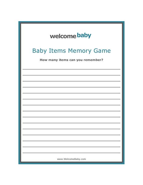 memory template 7 best images of free printable baby shower sign in sheet
