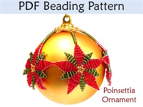 beading pattern tutorial christmas ornament beadweaving