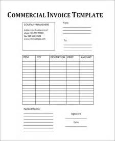 commercial invoice template excel 18 commercial invoice template free documents
