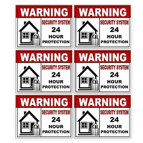 best l for indoor use 6 pack security alarm sticker best for home and business