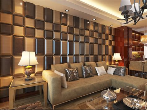 wohnzimmer wand design 3d leather tiles for living room wall designs modern