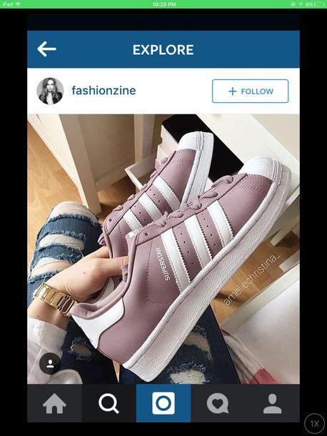 shoes adidas instagram superstar jenner kardashians purple pastel pink white
