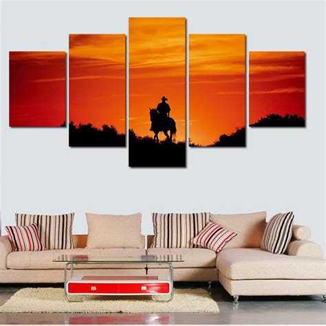 2016 sale real paintings fallout unframed 5 panels eiffel 2016 sale cuadros 5 panels art picture on canvas handsome
