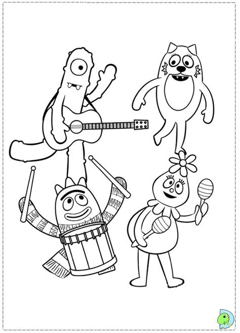 printable coloring pages yo gabba gabba how to draw g yo