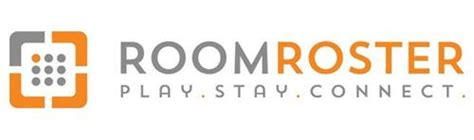 room roster roomroster play stay connect trademark of roomroster inc serial number 86068044