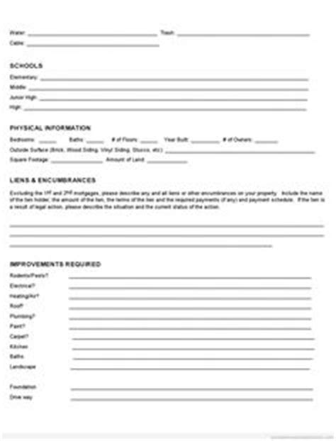 Property Information Sheet Template by Free Standard Lease Agreement Printable Real Estate Forms
