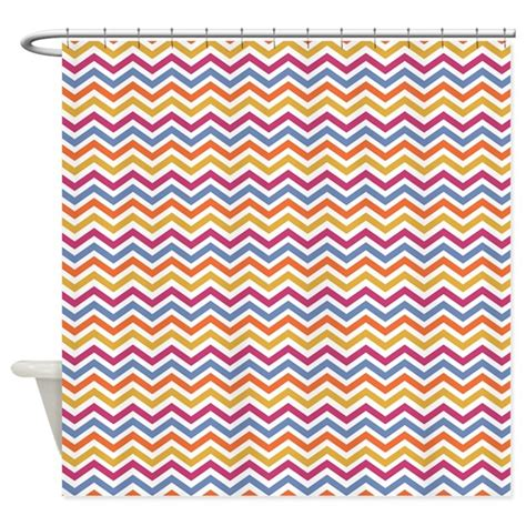 multi color chevron curtains multi color chevron stripes shower curtain by be inspired