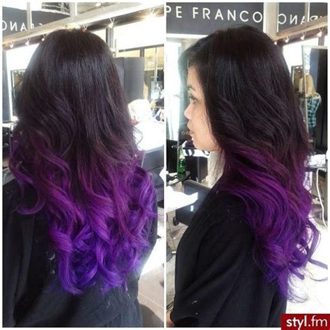 black n purple hair the luscious curlbombs purple and 25 best ideas about black to purple ombre on pinterest