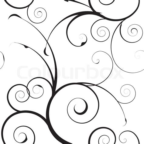 pattern drawing illustrator black and white seamless floral simple background pattern