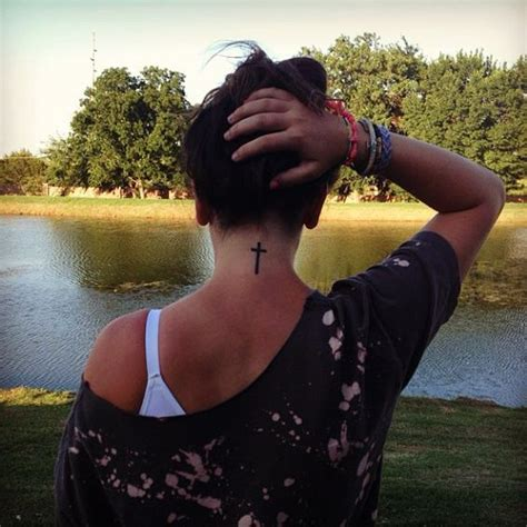cross tattoo behind neck best 25 cross neck tattoos ideas on cross