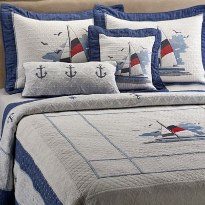 nautical coverlets buy coastal bedding quilts from bed bath beyond