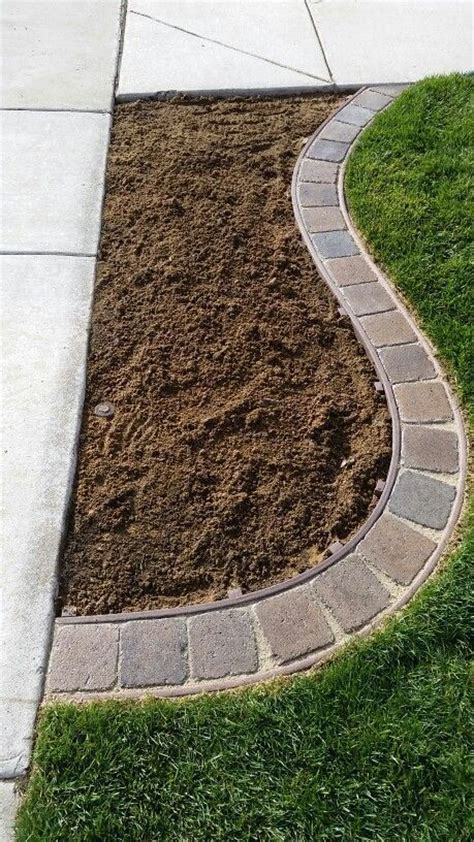 Landscape Edging Borders Diy Best 25 Lawn Edging Ideas On Flower Bed