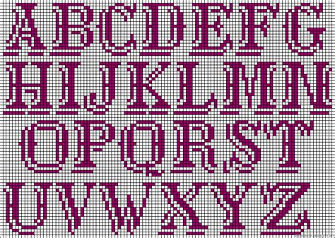 seed bead letter patterns alphabet perler bead pattern punto de