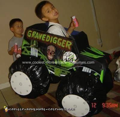 grave digger monster truck halloween costume coolest gravedigger monster truck costume