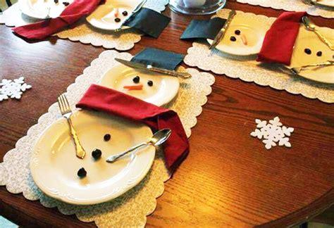 apparecchiare la tavola a natale apparecchiare la tavola di natale a pupazzo di neve