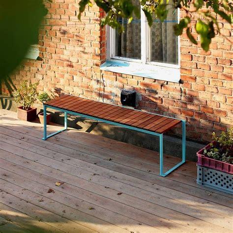 banc couleur banc ext 233 rieur de jardin bistrot en bois massif et acier