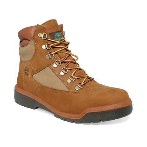 field boots timberland icon 6 waterproof field boots in brown for