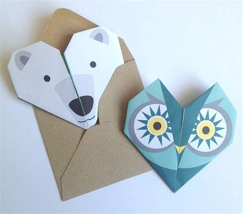 origami notepaper set owl by lollipop designs