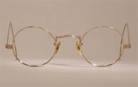 optometrist attic neo gold wire antique eyeglasses