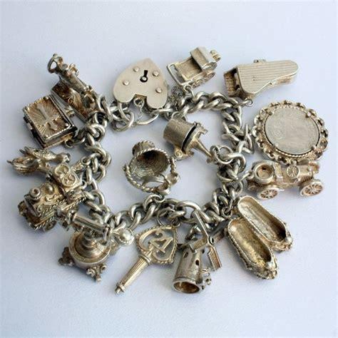 vintage silver charm bracelet jewels