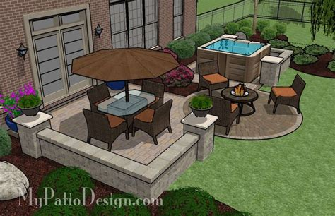 Patio Layout Design Patio With Dining Area And Tub Design Search Actual Yard Pinterest Tubs