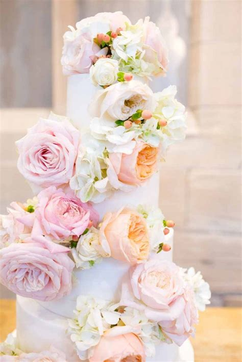 Wedding Cake And Flowers by Blush And Wedding Flowers At Hton Manor