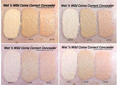 n come correct concealer review swatches of