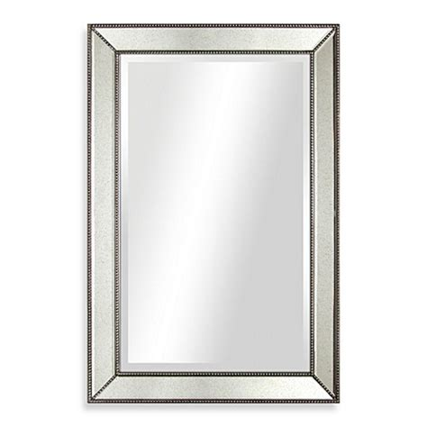 20 x 30 bathroom mirror buy 30 inch x 20 inch beaded antique mirror from bed bath