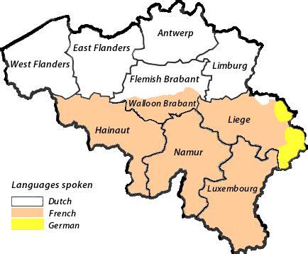 linguistic map of belgium dutchlanguage