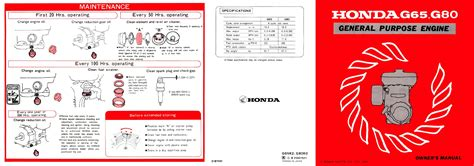 honda g65 engine handleiding honda honda engines g65 80 pagina 1 2