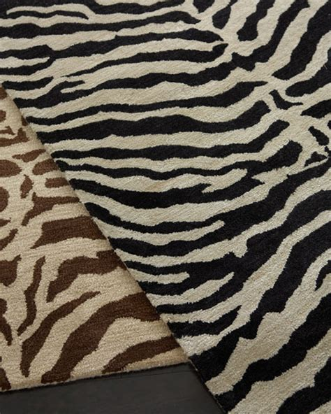Zebra Runner Rug Traditional Zebra Rug
