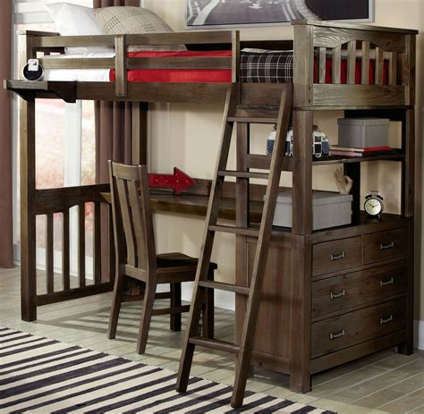 twin bunk with desk highlands twin loft bed with desk from ne kids