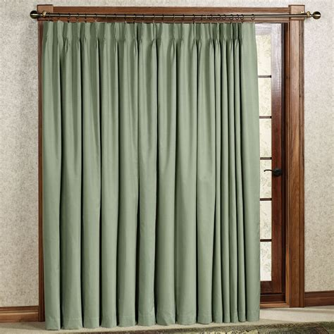 pleated curtains crosby pinch pleat thermal room darkening patio panel