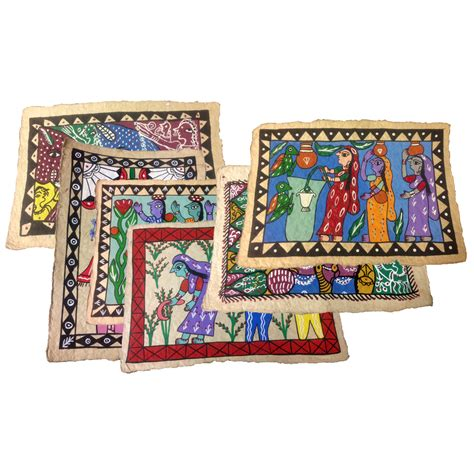 home decor nepal 8x12 hand painted mithila wall art from nepal fair trade