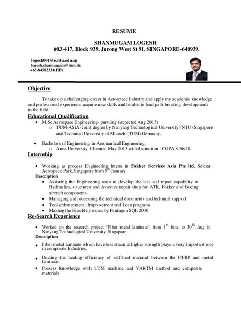 Resume Template Singapore Ntu logesh resume