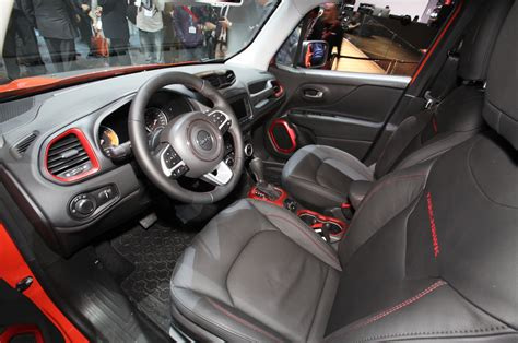 jeep renegade leather interior 2015 jeep renegade trailhawk show floor interior photo 15