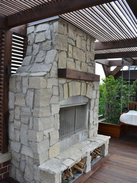 outdoor stone fireplace photos hgtv